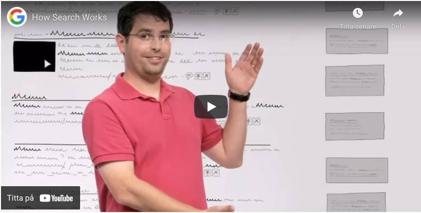 Matt Cutts How Google Works video