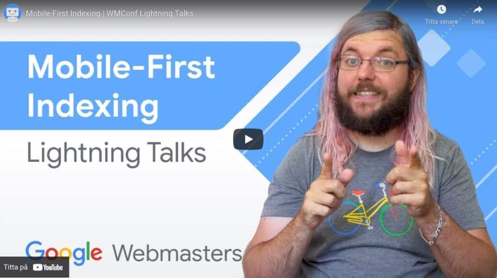 Martin Spiltt Mobile First Indexing video